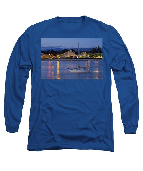 Boat At Twilight Long Sleeve T-Shirt