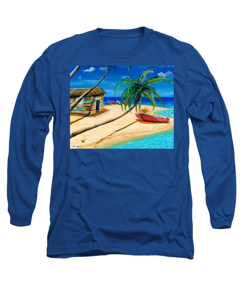 Boat Rent Long Sleeve T-Shirt by Steve Ozment