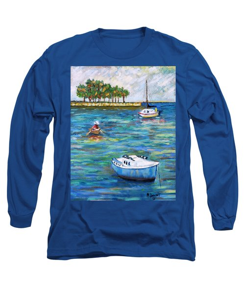 Boats At St Petersburg Long Sleeve T-Shirt