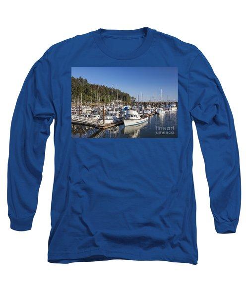 Boats Moored At Charleston Marina Long Sleeve T-Shirt