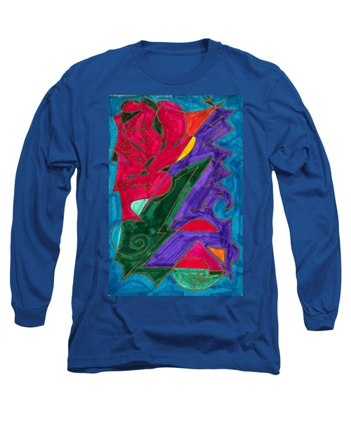 Long Sleeve T-Shirt featuring the mixed media Body Zero # 5 by Clarity Artists