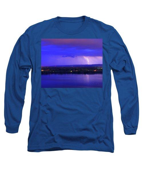 Bolt Over Gatineau Hills  Long Sleeve T-Shirt