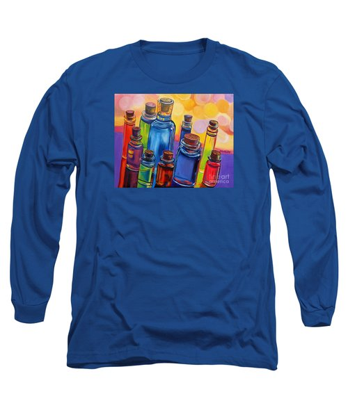 Bottled Rainbow Long Sleeve T-Shirt by Julie Brugh Riffey