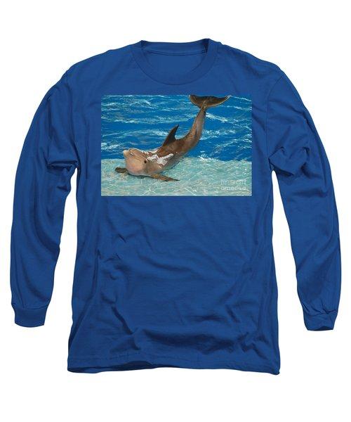 Bottlenose Dolphin Long Sleeve T-Shirt by DejaVu Designs