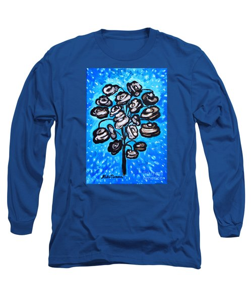 Long Sleeve T-Shirt featuring the painting Bouquet Of White Poppies by Ramona Matei