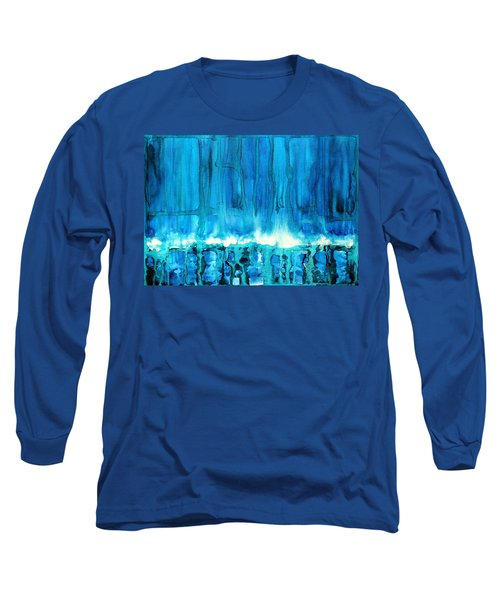 Breakers Off Point Reyes Original Painting Long Sleeve T-Shirt