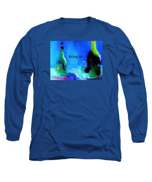 Long Sleeve T-Shirt featuring the painting Bring It by Lisa Kaiser
