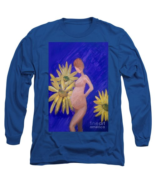 Long Sleeve T-Shirt featuring the painting Bringer Of Life by Marisela Mungia