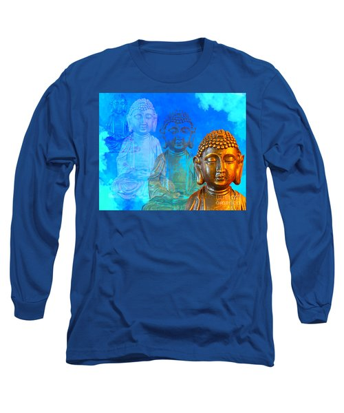 Buddha's Thoughts Long Sleeve T-Shirt by Ginny Gaura