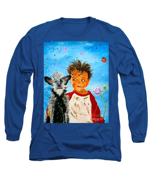 Long Sleeve T-Shirt featuring the painting Buddies by Phyllis Kaltenbach