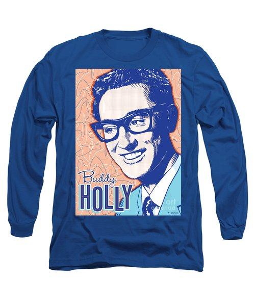 Buddy Holly Pop Art Long Sleeve T-Shirt