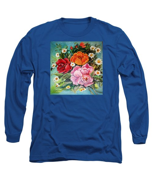 Bunch Of Flowers Long Sleeve T-Shirt