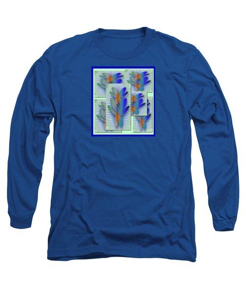 Long Sleeve T-Shirt featuring the drawing Butterflies 2 by Iris Gelbart