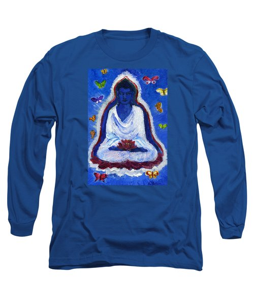 Butterflies Dream Of Buddha Long Sleeve T-Shirt