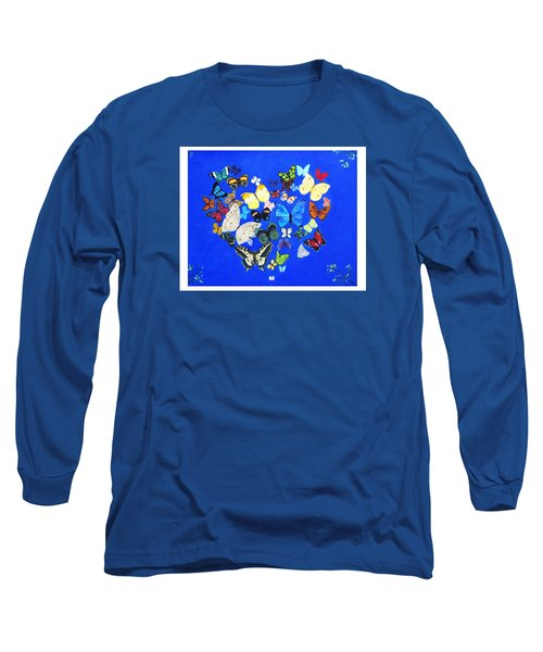 Butterfly Heart Long Sleeve T-Shirt by Anne Marie Brown
