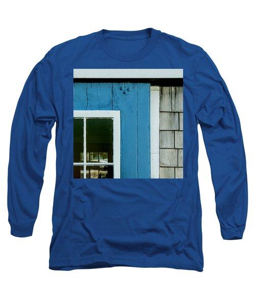Old Door In Blue Long Sleeve T-Shirt