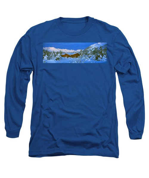 Cabin Mount Alyeska, Alaska, Usa Long Sleeve T-Shirt