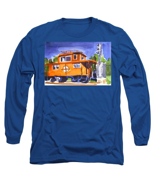 Caboose With Silver Signal Long Sleeve T-Shirt