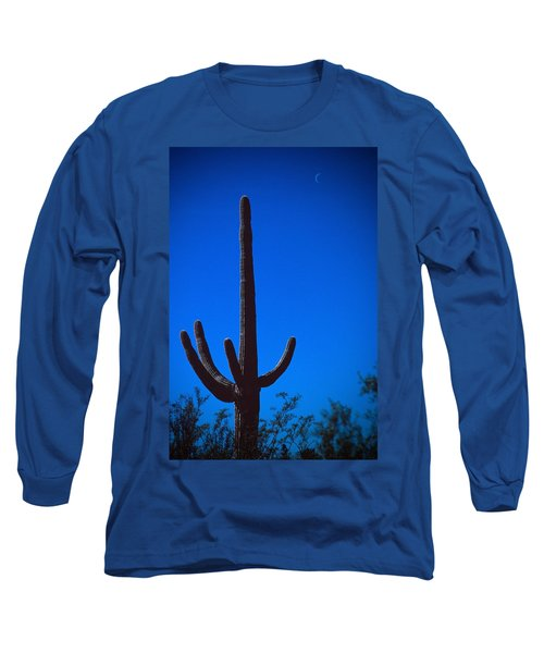 Cactus And Moon Long Sleeve T-Shirt
