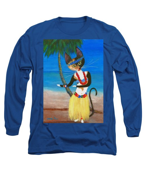 Calico Hula Queen Long Sleeve T-Shirt by Jamie Frier