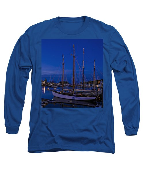 Camden Harbor Maine At 4am Long Sleeve T-Shirt