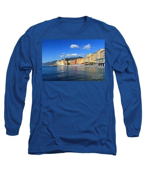 Long Sleeve T-Shirt featuring the photograph Camogli - Italy by Antonio Scarpi