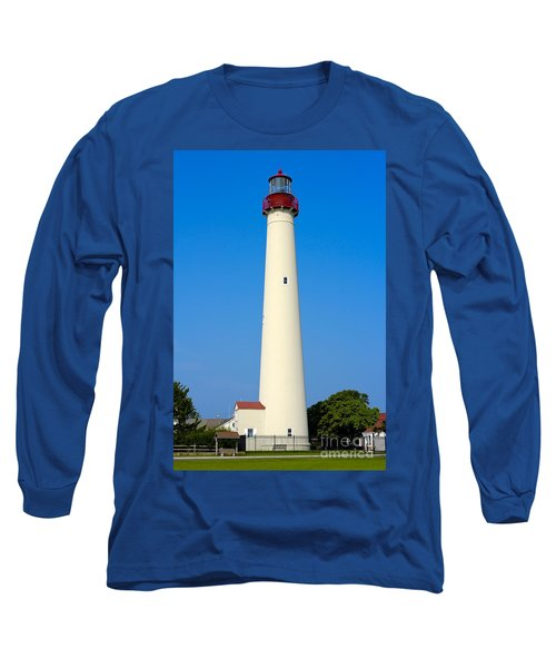 Cape May Lighthouse Long Sleeve T-Shirt by Anthony Sacco