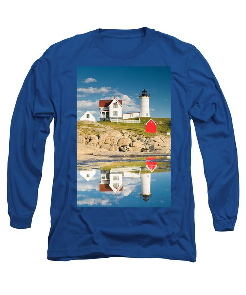 Cape Neddick Light  Reflections Long Sleeve T-Shirt