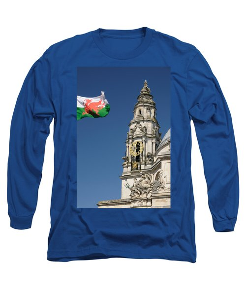 Cardiff City Hall Long Sleeve T-Shirt by Jeremy Voisey