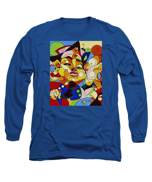 Cartoon Painting With Hidden Pictures Long Sleeve T-Shirt