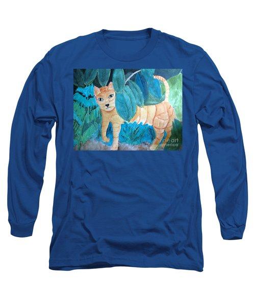 CAT Long Sleeve T-Shirt by Sandy McIntire