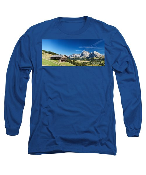 Long Sleeve T-Shirt featuring the photograph Chalet In South Tyrol by Carsten Reisinger