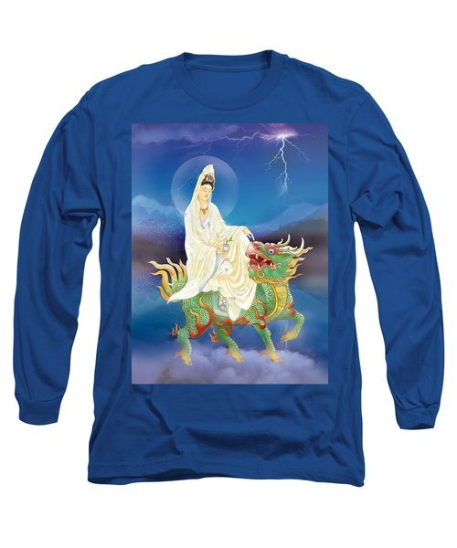 Long Sleeve T-Shirt featuring the photograph Chi Lin Kuan Yin by Lanjee Chee