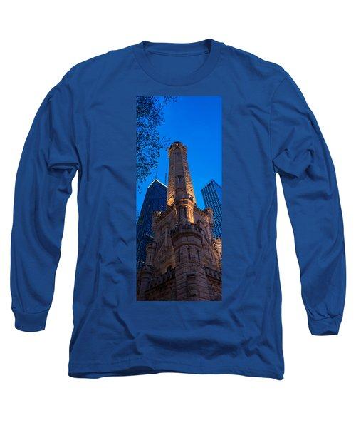 Chicago Water Tower Panorama Long Sleeve T-Shirt