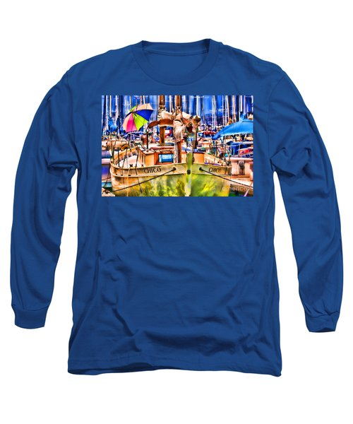 Chico Sail Boat By Diana Sainz Long Sleeve T-Shirt