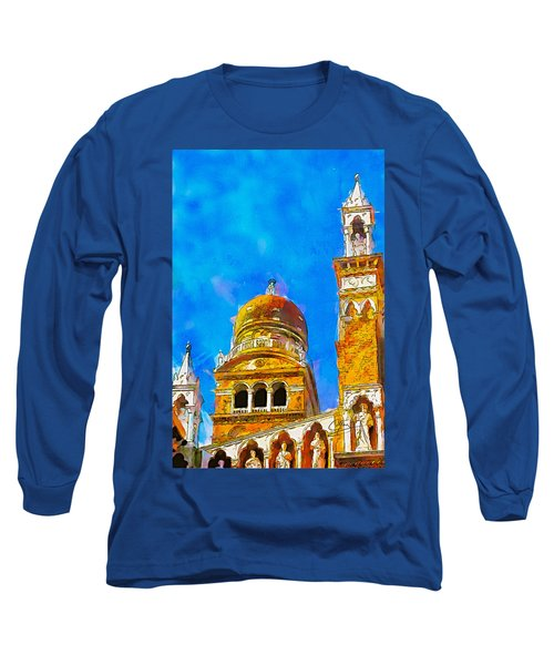 Long Sleeve T-Shirt featuring the painting Church Of Madonna Dell'orto by Greg Collins