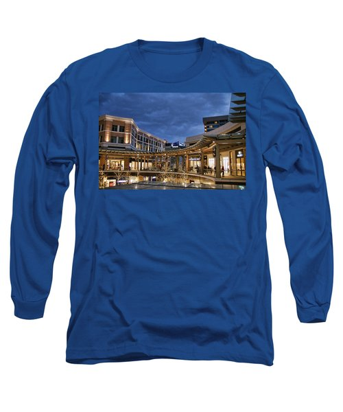 Long Sleeve T-Shirt featuring the photograph City Creek by Ely Arsha