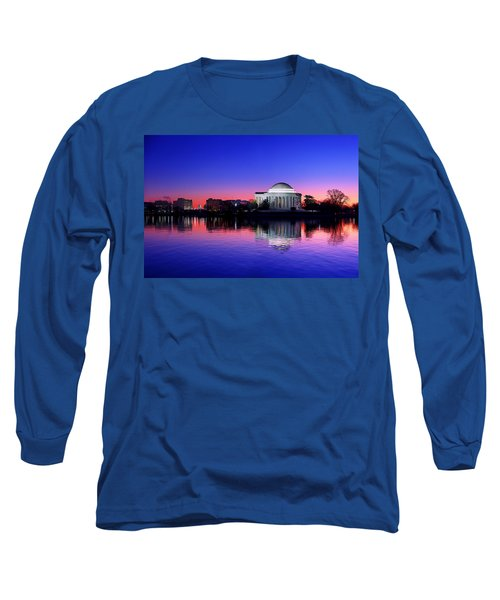 Clear Blue Morning At The Jefferson Memorial Long Sleeve T-Shirt