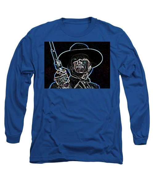 Long Sleeve T-Shirt featuring the painting Clint by Hartmut Jager