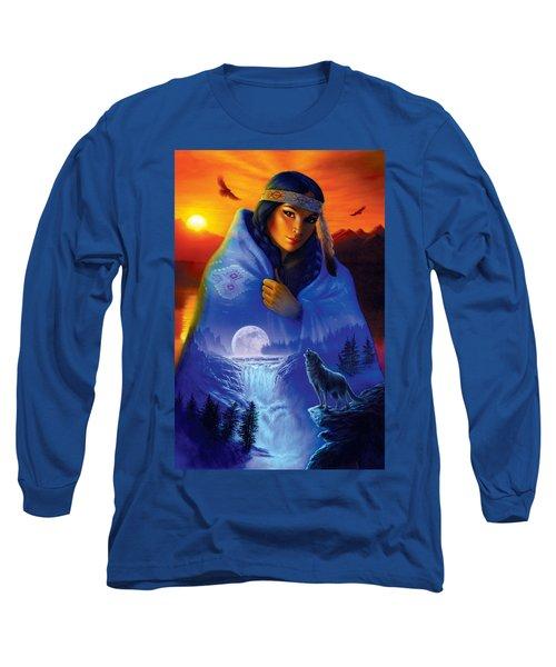 Cloak Of Visions Portrait Long Sleeve T-Shirt