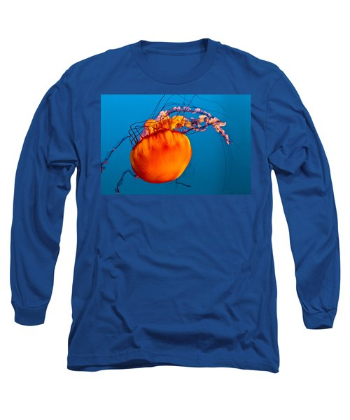 Long Sleeve T-Shirt featuring the photograph Close Up Of A Sea Nettle Jellyfis by Eti Reid