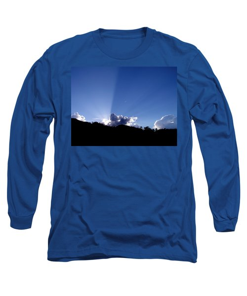 Long Sleeve T-Shirt featuring the photograph Cloud Rays by Craig T Burgwardt