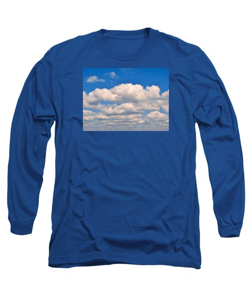 Clouds Over Lake Pontchartrain Long Sleeve T-Shirt by Deborah Lacoste