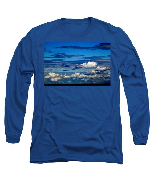 Color Burned Clouds Long Sleeve T-Shirt