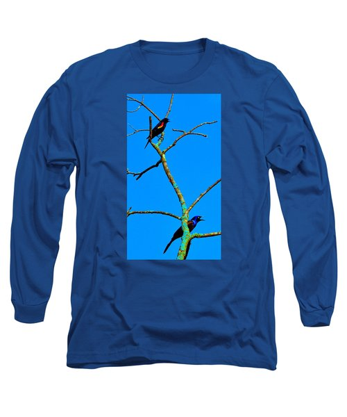 Colorful Duet Long Sleeve T-Shirt by Zafer Gurel