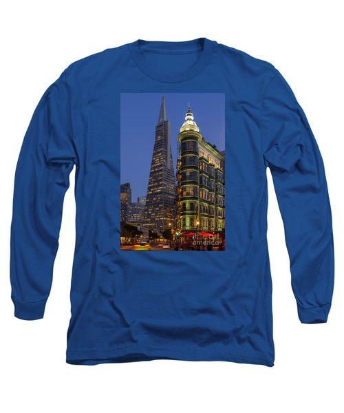 Columbus And Transamerica Buildings Long Sleeve T-Shirt by Jerry Fornarotto