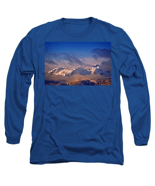 Comox Glacier And Morning Mist Long Sleeve T-Shirt