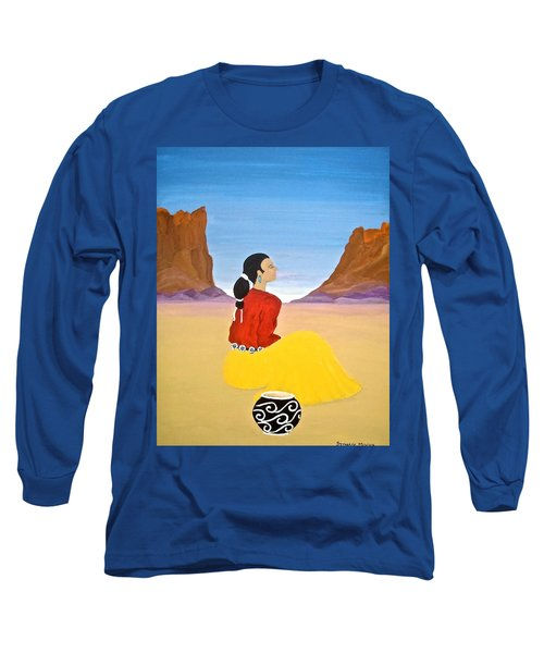 Contemplation Long Sleeve T-Shirt by Stephanie Moore