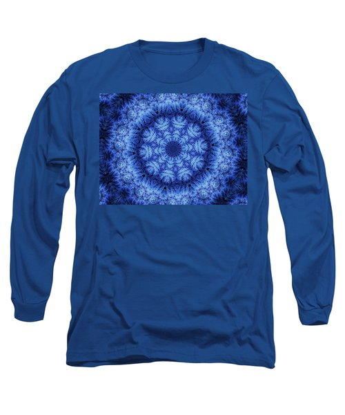 Long Sleeve T-Shirt featuring the digital art Cool Down Series #1 Snowflake by Lilia D