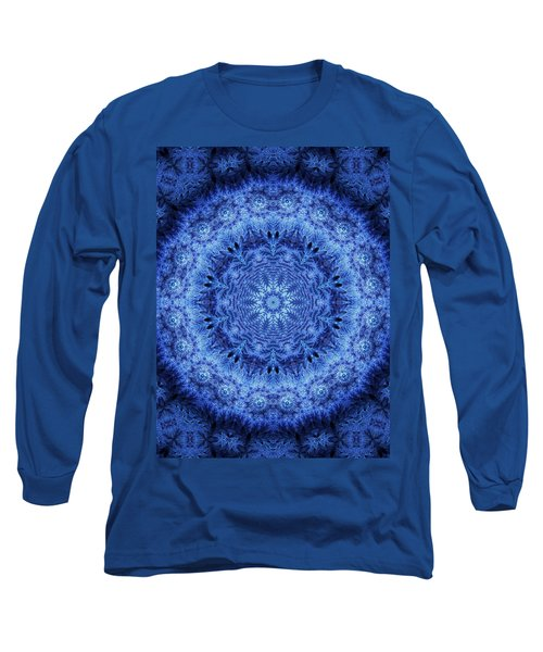 Long Sleeve T-Shirt featuring the digital art Cool Down Series #2 Frozen by Lilia D